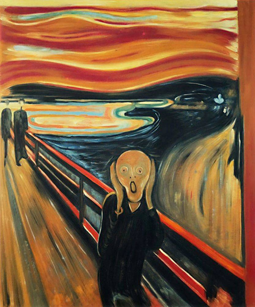 The Scream Reproduction Oil Painting by Munch