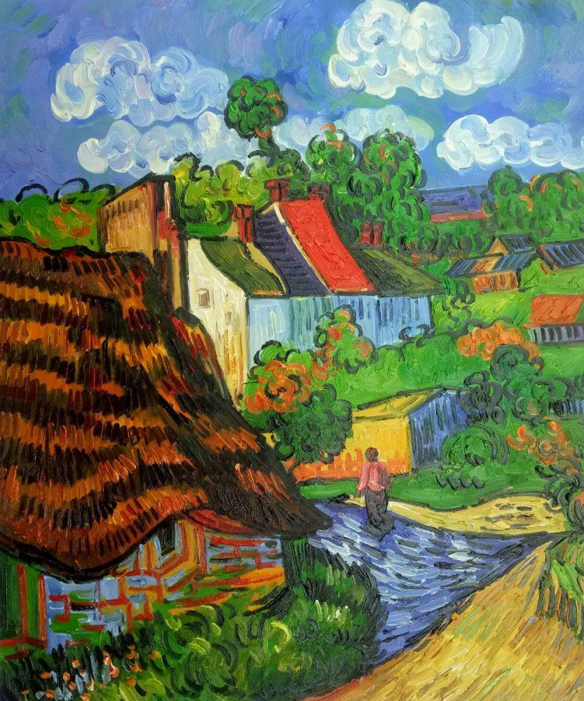 Houses At Auvers Painting By Vincent Van Gogh Art Reproduction Art